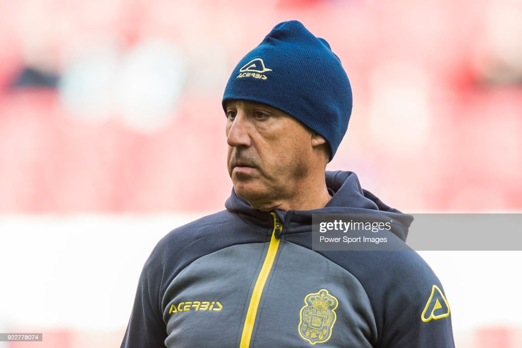 Second coach Juan Luna Eslava of UD Las Palmas prior to the La Liga 2017-18 match between Atletico de Madrid and UD Las Palmas at Wanda Metropolitano on January 28 2018 in Madrid, Spain.