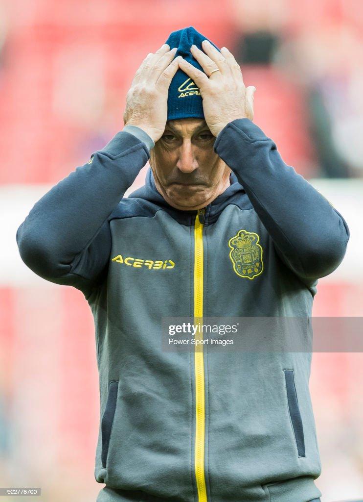 Second coach Juan Luna Eslava of UD Las Palmas prior to the La Liga 2017-18 match between Atletico de Madrid and UD Las Palmas at Wanda Metropolitano on January 28 2018 in Madrid, Spain.