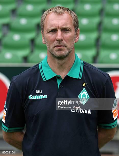 Second Coach Matthias Hoenerbach poses during the Bundesliga 1st team presentation of Werder Bremen at the Weser stadium on July 22 2008 in Bremen...