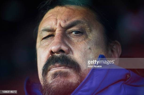 Second Coach of Club Atletico de Madrid German Burgos looks on during the La Liga match between Sevilla FC and Club Atletico de Madrid at Estadio...