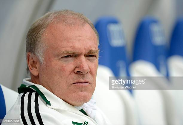 Second coach of Muenchen Hermann Gerland looks on prior to the Bundesliga match between TSG 1899 Hoffenheim and Bayern Muenchen at Wirsol Arena on...