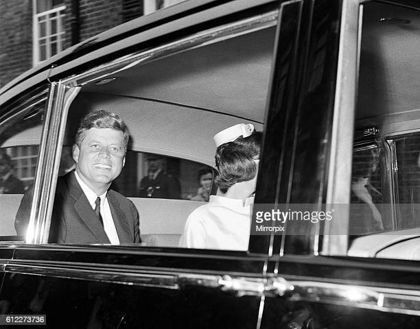 Second day of the visit of American President John F Kennedy and his wife Jackie to London England The President and his wife leave the London home...