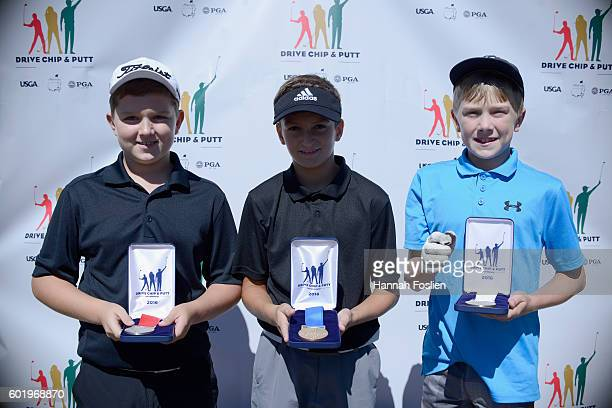 Second first and third place for the chipping contest for the boys 1011 category Jake Olson Mateo Rascon and Henry Homstad at the regional round of...