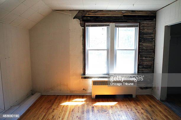 A second floor bedroom which could have been the bedroom of Roy and Walt Disney in the Chicago home where the legendary film producer and animation...