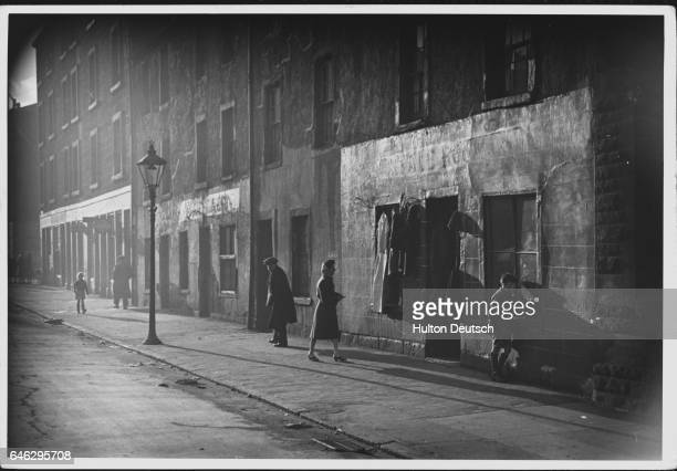 Second hand clothing store in the Gorbals area of Glasgow, January 1948.