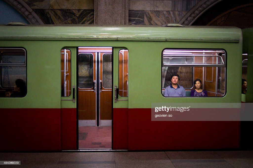 Pyongyang Subway Train : News Photo