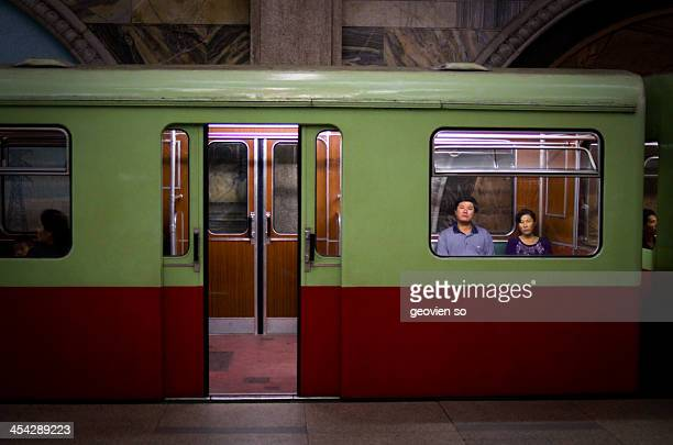 CONTENT] A second hand East German train at a Pyongyang subway station