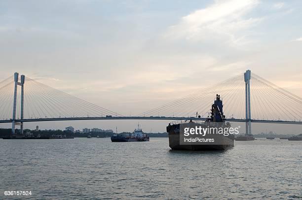 Second Hooghly Bridge Or Vidyasagar Setu Over Hooghly River At Sunset Kolkata West Bengal