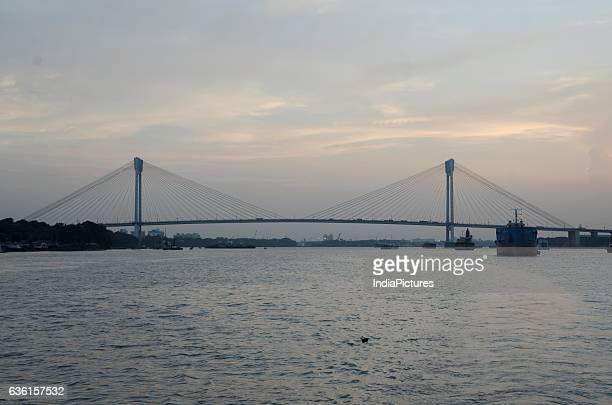 Second Hooghly Bridge Or Vidyasagar Setu Over Hooghly River At Sunset Kolkata West Bengal