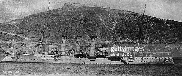 Second morocco crisis 1911 german small cruiser SMS Berlin which arrived two days after gunboat Panther' in order to strengthen german position off...