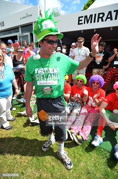 Second place in the Wacky Trousers contest James Conway from Cobh poses during the Second round of The Irish Open at Fota Island resort on June 20...