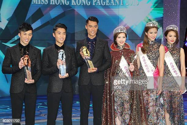 Second place Karl Ting fist place Jackson Lai third place Freeyon Chung second place Tiffany Lau first place Crystal Fung and third place Bonnie Chan...