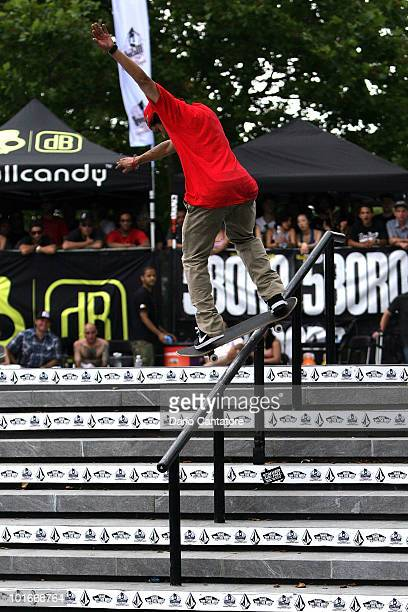 Second place skateboarder Paul Rodriguez performs at the Maloof Money Cup at Flushing Meadows Corona Park on June 6 2010 in Queens New York City