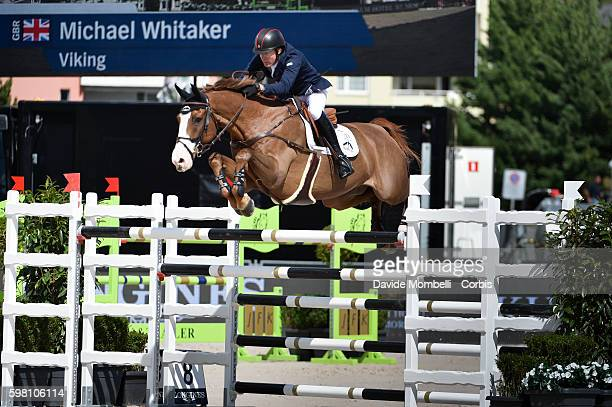 Second place to the Englishman Michael Whitaker riding his faithful Viking Longines Grand Prix of CSI5 * St Moritz 'n