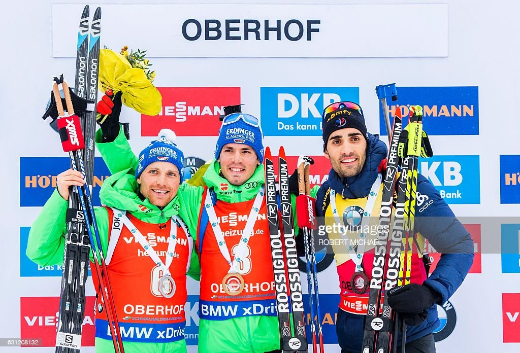 BIATHLON-WORLD-GER-PODIUM : News Photo