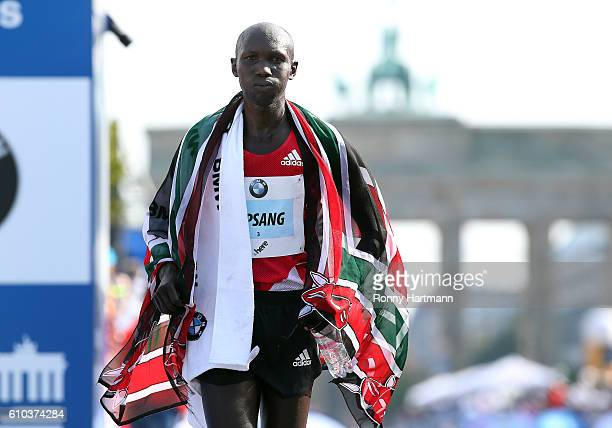 Second placed Wilson Kipsang of Kenie after the 43rd BMW Berlin Marathon on September 25 2016 in Berlin Germany