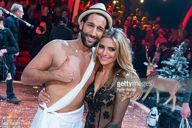 Second placewinners Massimo Sinato and Sophia Thomalla during the photocall after the Final of 'Let's Dance Let's Christmas' TV Show on December 21...