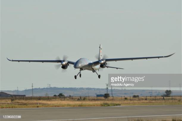 Second prototype of Bayraktar AKINCI TIHA developed by Baykar, flies as it completed the first flight test at Bayraktar AKINCI Flight and training...