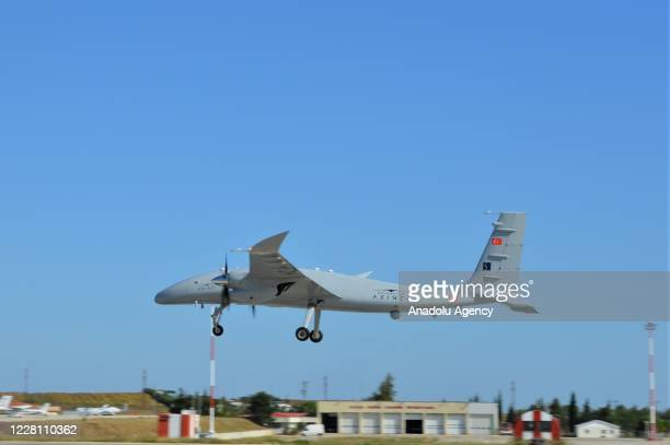 Second prototype of Bayraktar AKINCI TIHA developed by Baykar, flies as it completed the second flight test of 20 thousand feet altitude at Bayraktar...