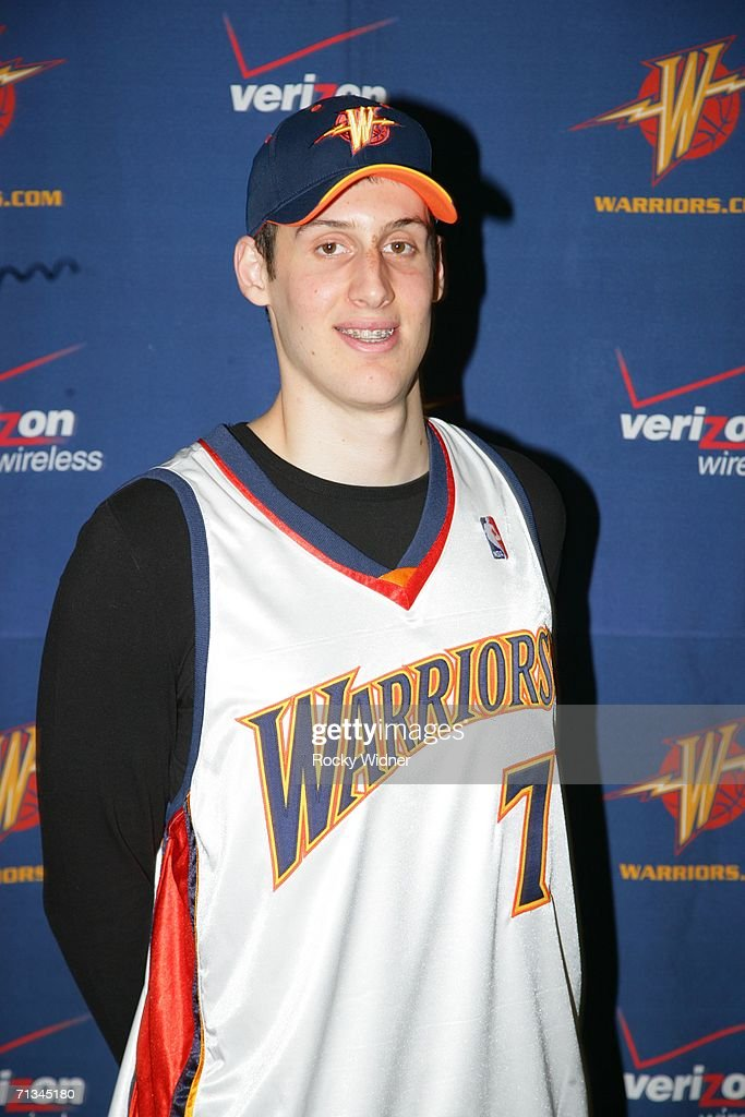 2006 second round draft pick Kosta Perovic #7 of the Golden State Warriors poses for a photo during a press conference on June 30, 2006 at 24 Hour Fitness in San Ramon, California.