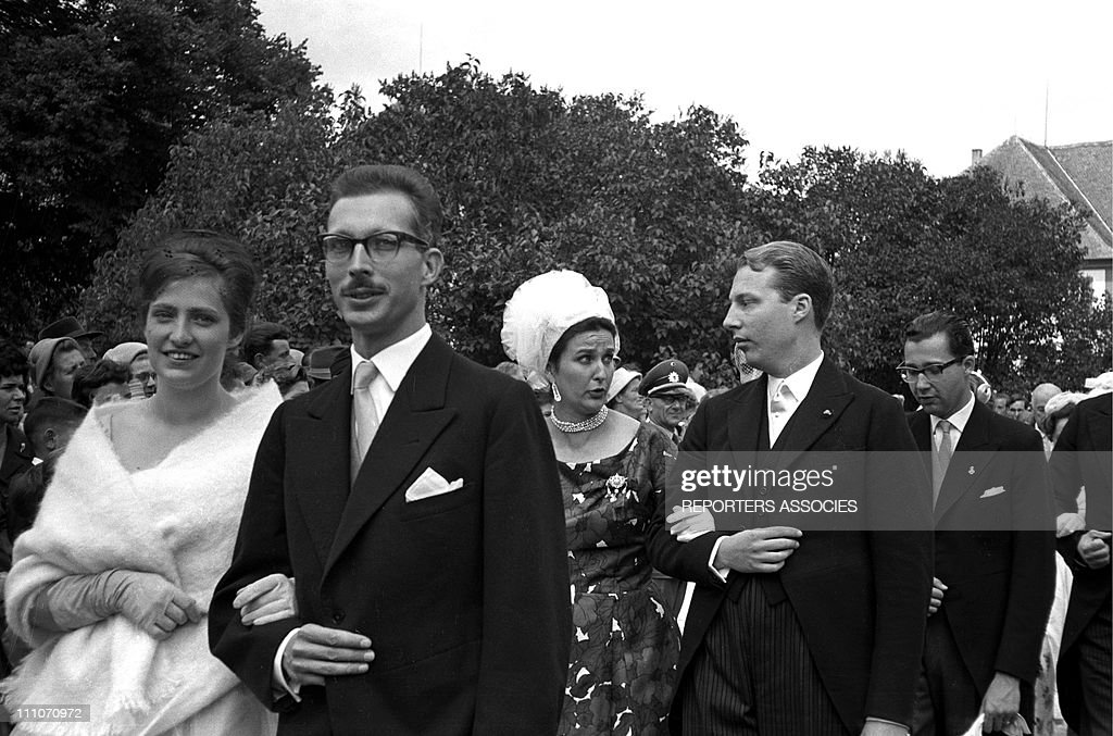 Wedding of Diane of France and Carl of Wurtemberg in Altshausen, Germany in July, 1960. : News Photo