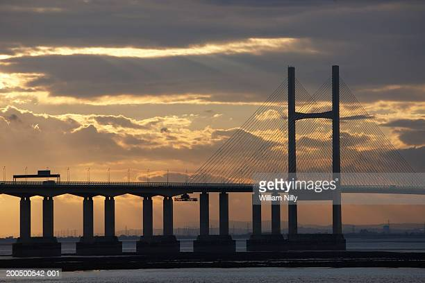 second severn crossing bridge - chepstow stock pictures, royalty-free photos & images