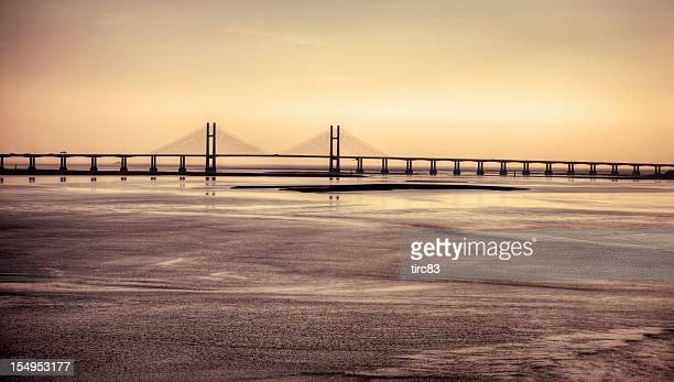 Second Severn Crossing late afternoon light