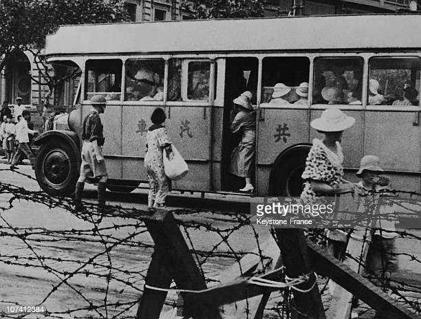 Second Sino Japanese War Foreigners Evacuation In Shanghai On September 1937