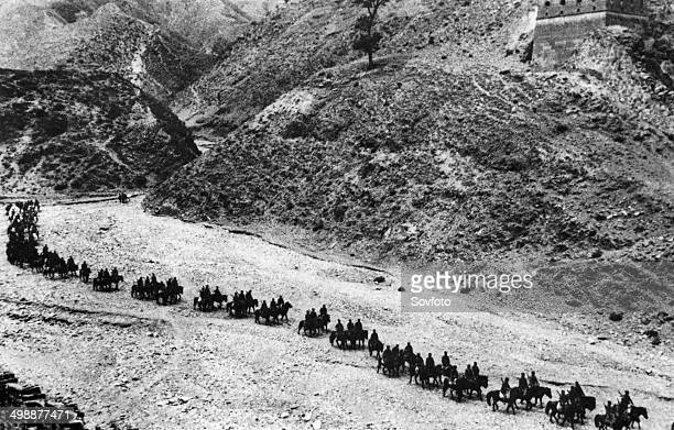 Second SinoJapanese War A detatchment of the 115th division of the Eighth Route Army marching towards the Wutai mountain region in Northern China in...