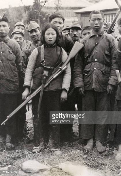 Second SinoJapanese War Chinese prisonners in Lushan In May 1939