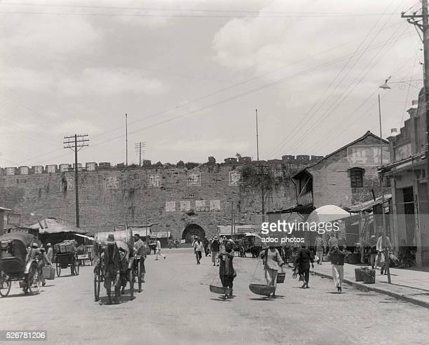 Second SinoJapanese War The city wall of Nanking after the Japanese invasion In 1938