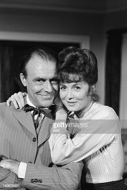 PRAIRIE Second Spring Episode 21 Aired 2/18/80 Pictured Richard Bull as Nelson Nels Oleson Suzanne Rogers as Molly Reardon Photo by NBCU Photo Bank