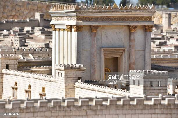 second temple. ancient jerusalem - historical palestine stock pictures, royalty-free photos & images