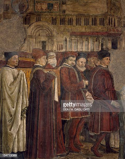 Second transfer of the relics of Saint Ercolano from the Church of St Peter to the Cathedral of St Lawrence 14611466 by Benedetto Bonfigli fresco...
