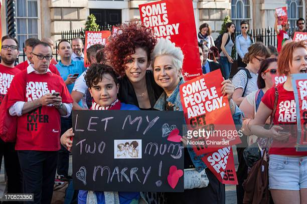 Second vigil in support of equal marriage outside Parliament. Here is a story about Bailey and his mums Lucy and Stella :...
