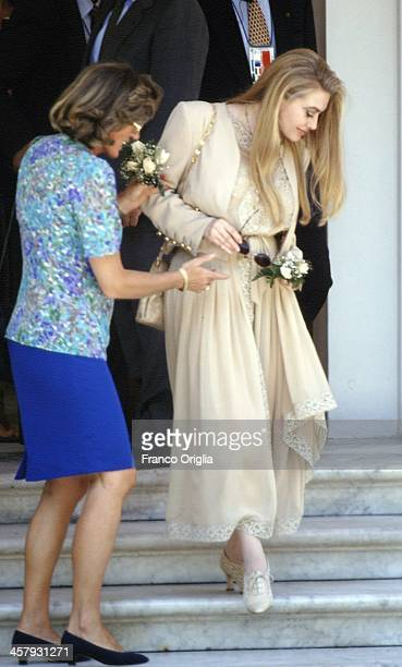 Second wife of Italian Prime Minister Silvio Berlusconi, Veronica Lario , during the G7 Summit on July 9, 1994 in Naples, Italy.