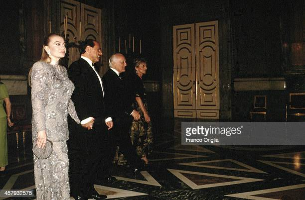 Second wife of Italian Prime Minister Silvio Berlusconi Veronica Lario Silvio Berlusconi President of the Italian Republic Oscar Luigi Scalfaro and...