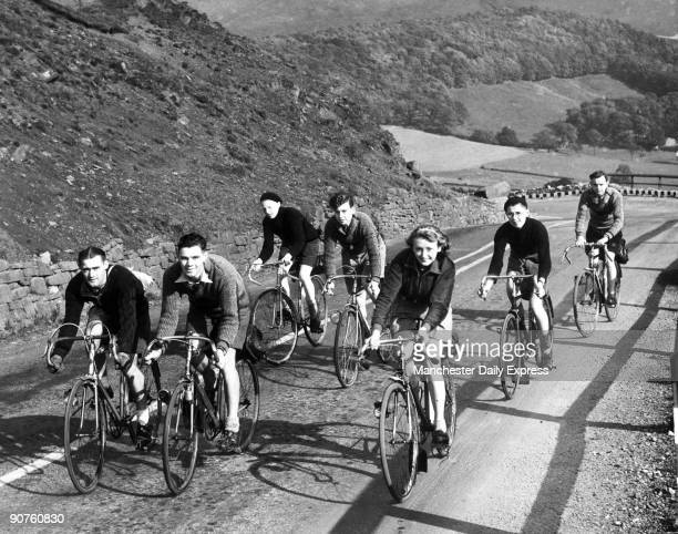 Second World War. �A party of Rotherham cyclists making their way up Mam Tor - enjoying the delights of cycling and leaving behind the worries of the...