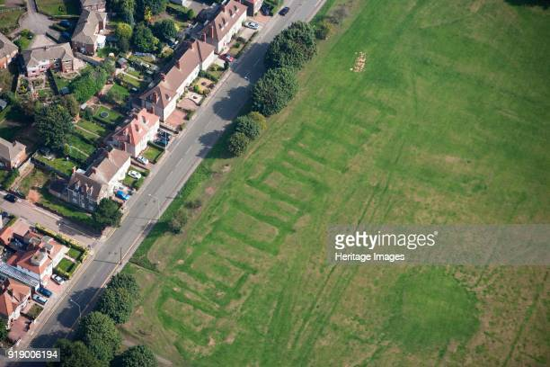 Second World War air raid shelter in Coventry, West Midlands, circa 2010. In this photograph traces of a Second World War air raid shelter can still...