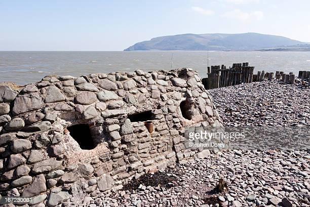second world war coastal defences at porlock weir, - ポーロック ストックフォトと画像