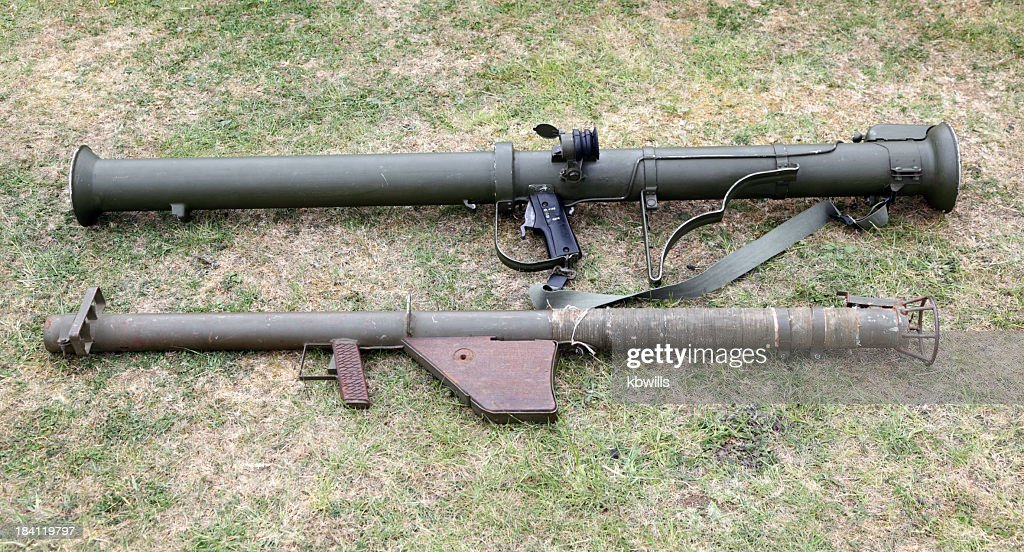 second world war era anti-tank bazooka guns : Stock Photo