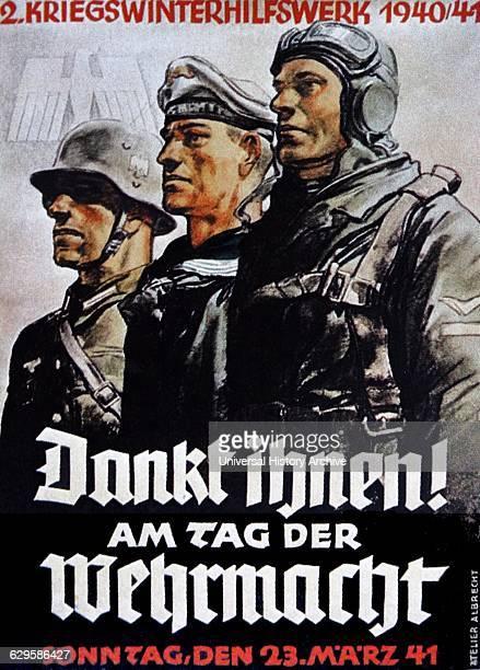 Second world war German propaganda poster Dated 1943