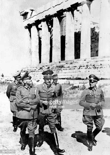 Second World War. The marshal von Brauchitsch and the Dr Wrede visiting the Acropolis of Athens. Greece, May, 1941. .