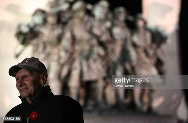 Second World War veteran Ralph Mayville poses at the War Memorial Mayville served with the Black Devils an elite AmericanCanadian commando unit...