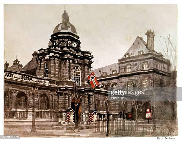 Second World War War The French Senate in Paris under German occupation Tint