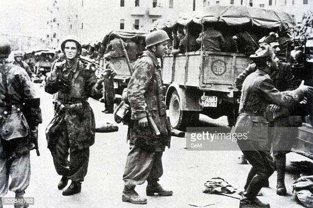 Second World WarItalian Armistice in 1943 German paratroopers control the Italian prisoners after the fighting in the city supported on 9 and 10...