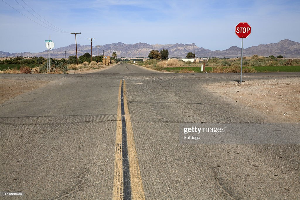 Secondary Roads Crossing Rural America : Stock Photo