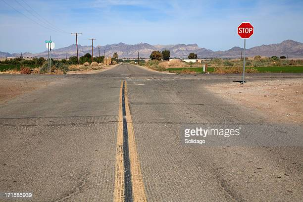 secondary roads crossing rural america - crossroad stock pictures, royalty-free photos & images