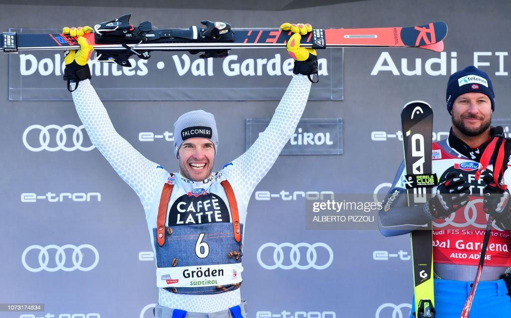 SKI-ALPINE-MEN-WORLD-SUPERG-PODIUM : News Photo