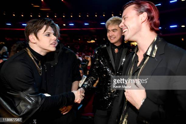 5 Seconds of Summer and Yungblud attend the 2019 iHeartRadio Music Awards which broadcasted live on FOX at Microsoft Theater on March 14 2019 in Los...
